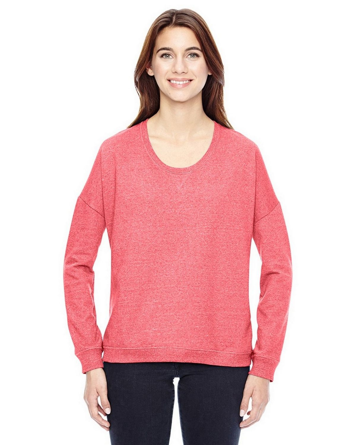 Alternative 09833E Women's Eco-Mock Twist Sunset Crewneck