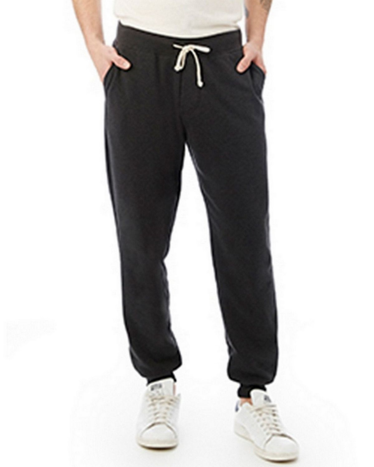 Alternative 09881F Mens Fleece Pant - Eco True Black - L 09881F