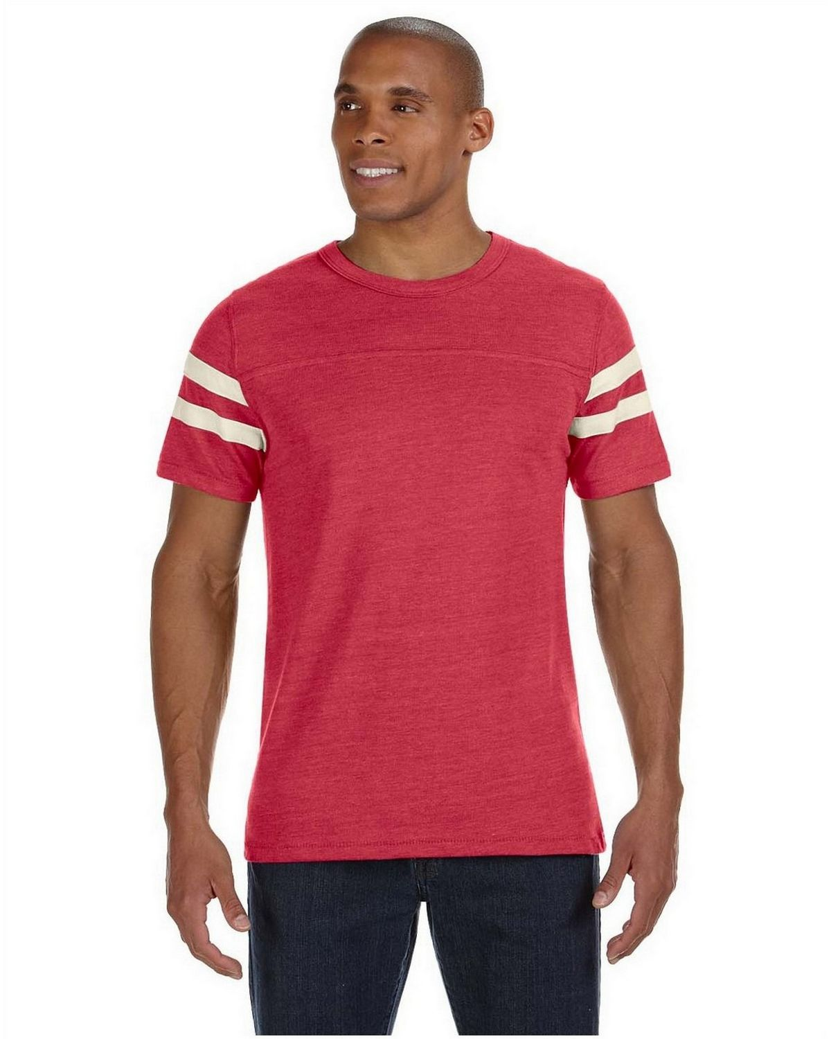 Alternative 12150E1 Eco-Football Tee - Ec Tr Red/Ec Ivry - S 12150E1
