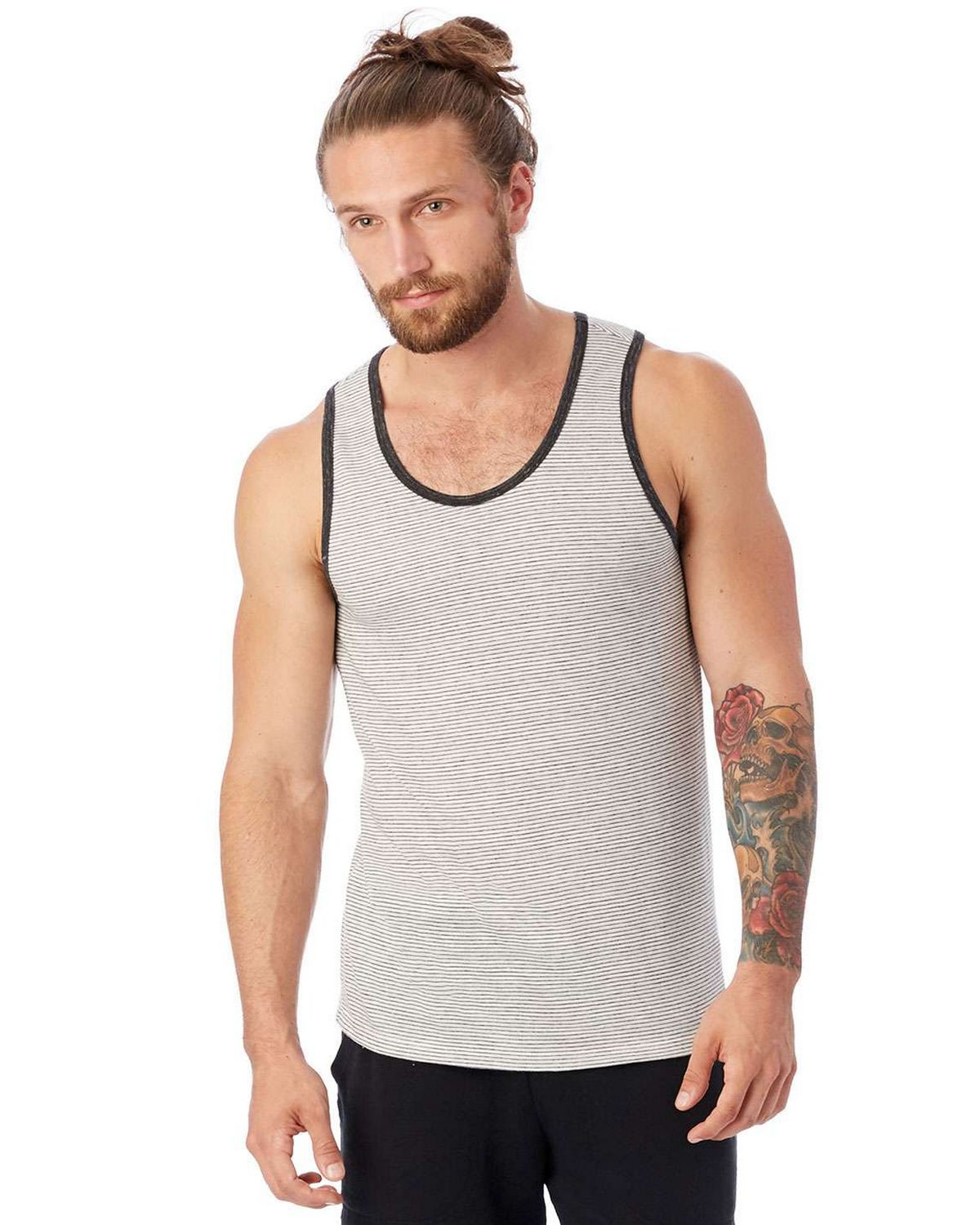 Alternative 1997EJ Men's Marine Eco-Jersey Yarn Dye Stripe Tank