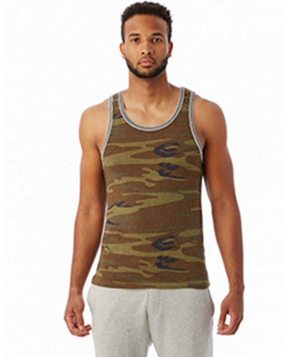 Alternative 22060E1 Double Ringer Tank - E Glc Blu/ E Gry - S 22060E1