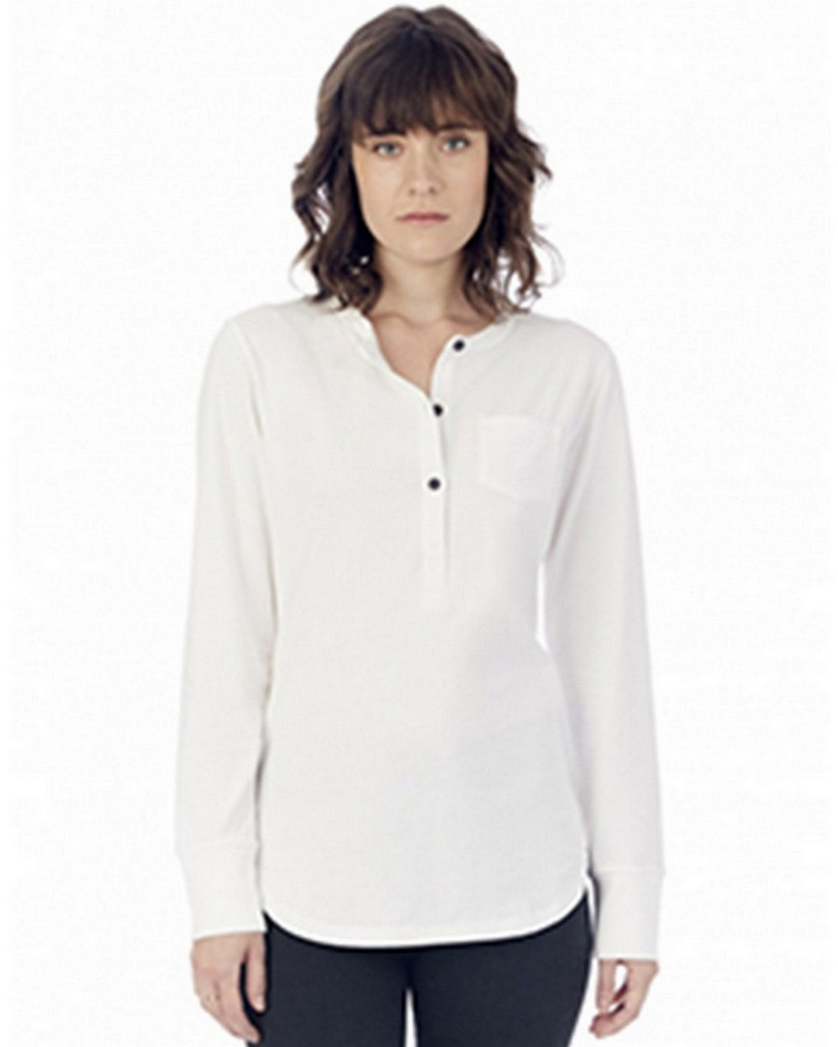 Alternative 2887P1 Women's Organic Pima Cotton Donna Henley