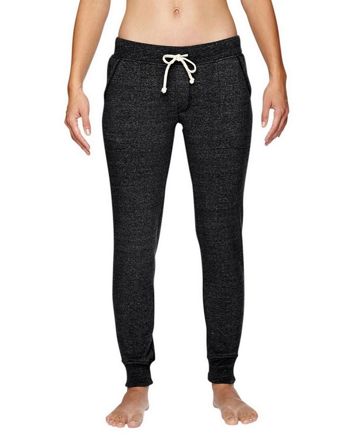 Alternative 31082F Ladies Fleece Pants - Eco True Black - L 31082F