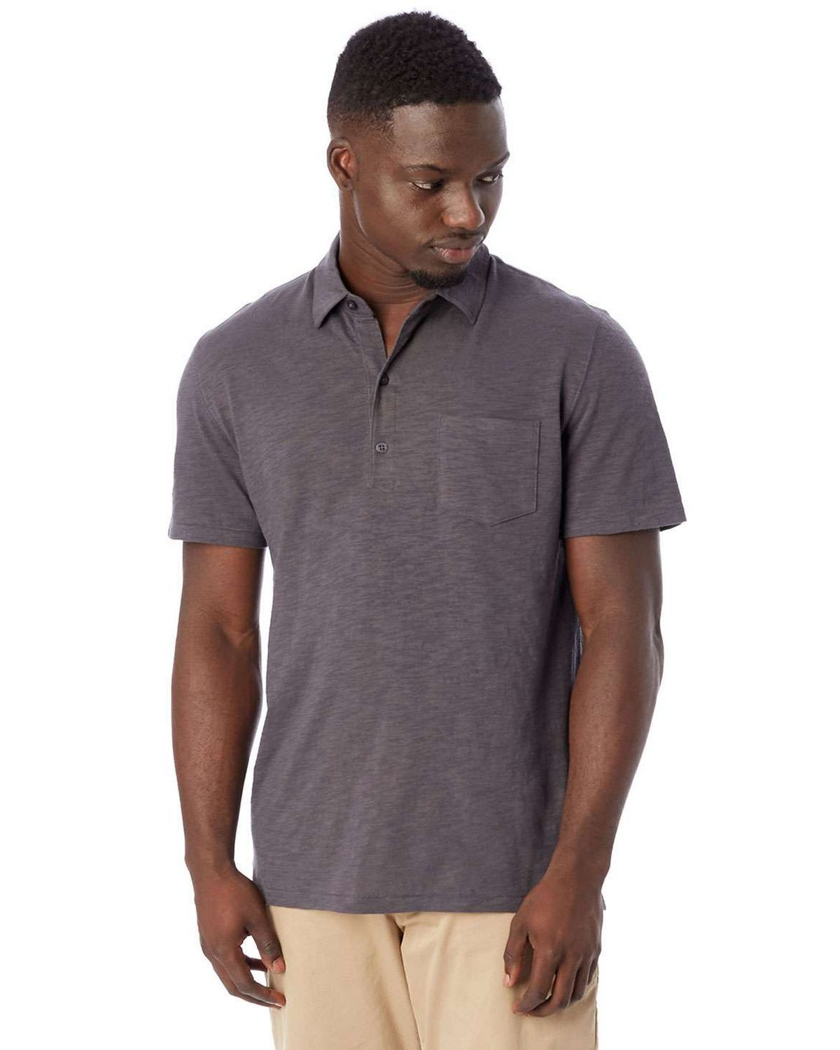 Alternative 4851JP Men's Fairway Washed Slub Polo Shirt