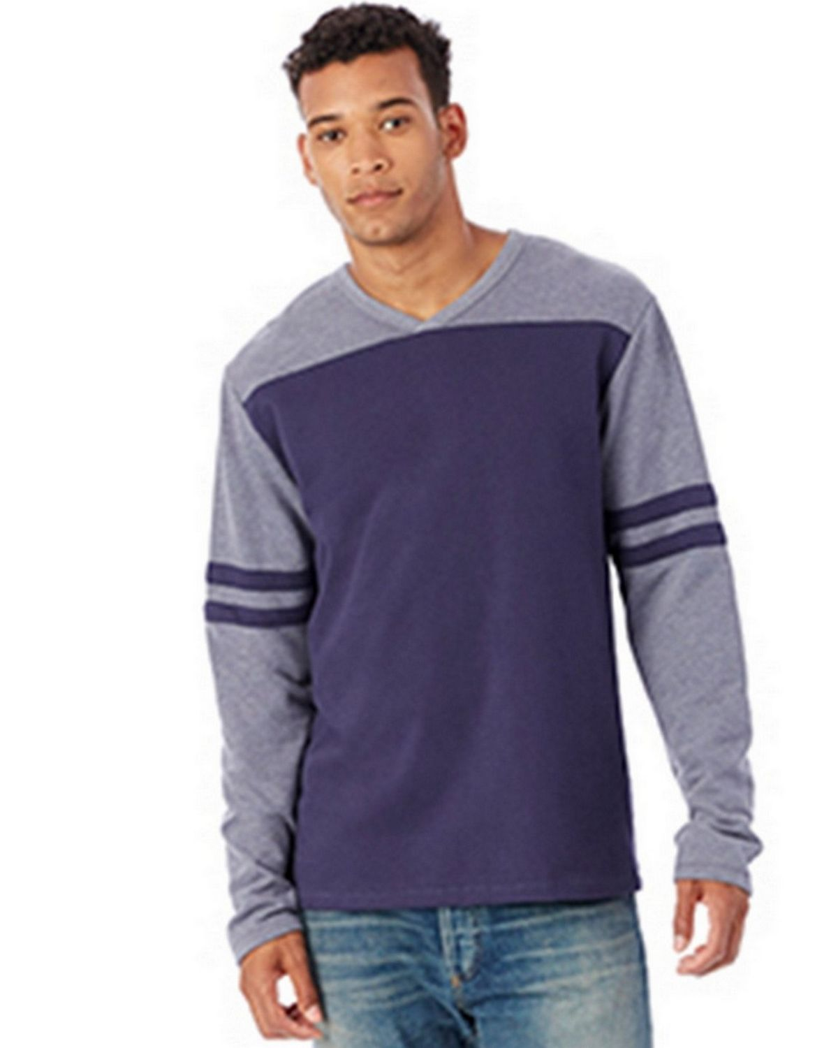 Alternative 5077BT Men's French Terry Trainer L/S Pullover