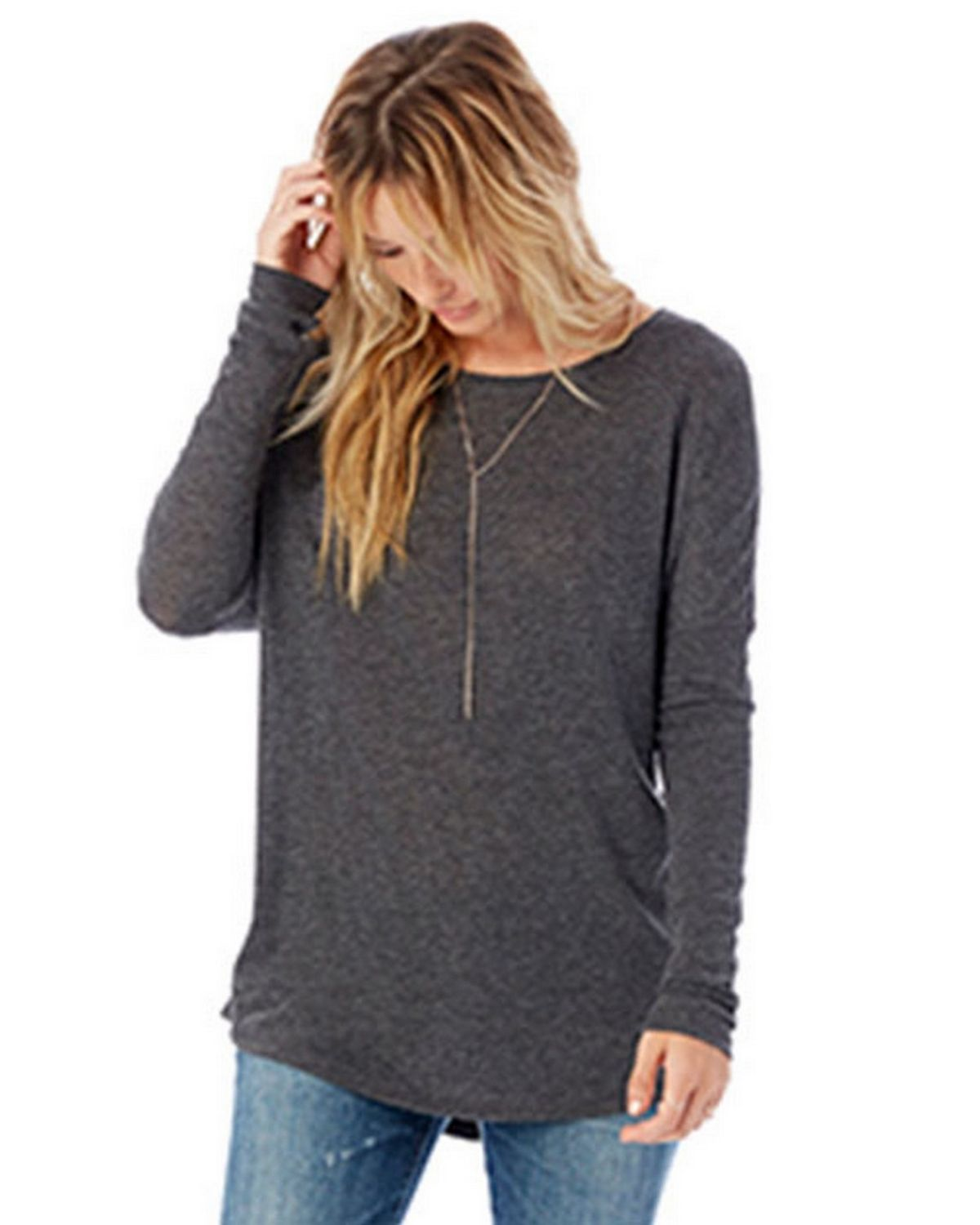 Alternative 6024G1 Women's Ramble Eco-Gauze Raglan Tunic