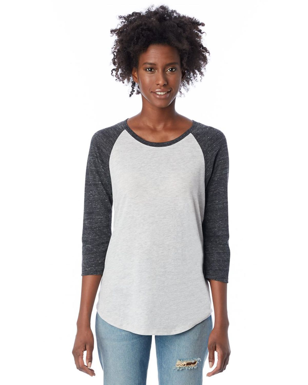 Alternative 61352 Women's Eco Jersey Raglan Baseball T-Shirt