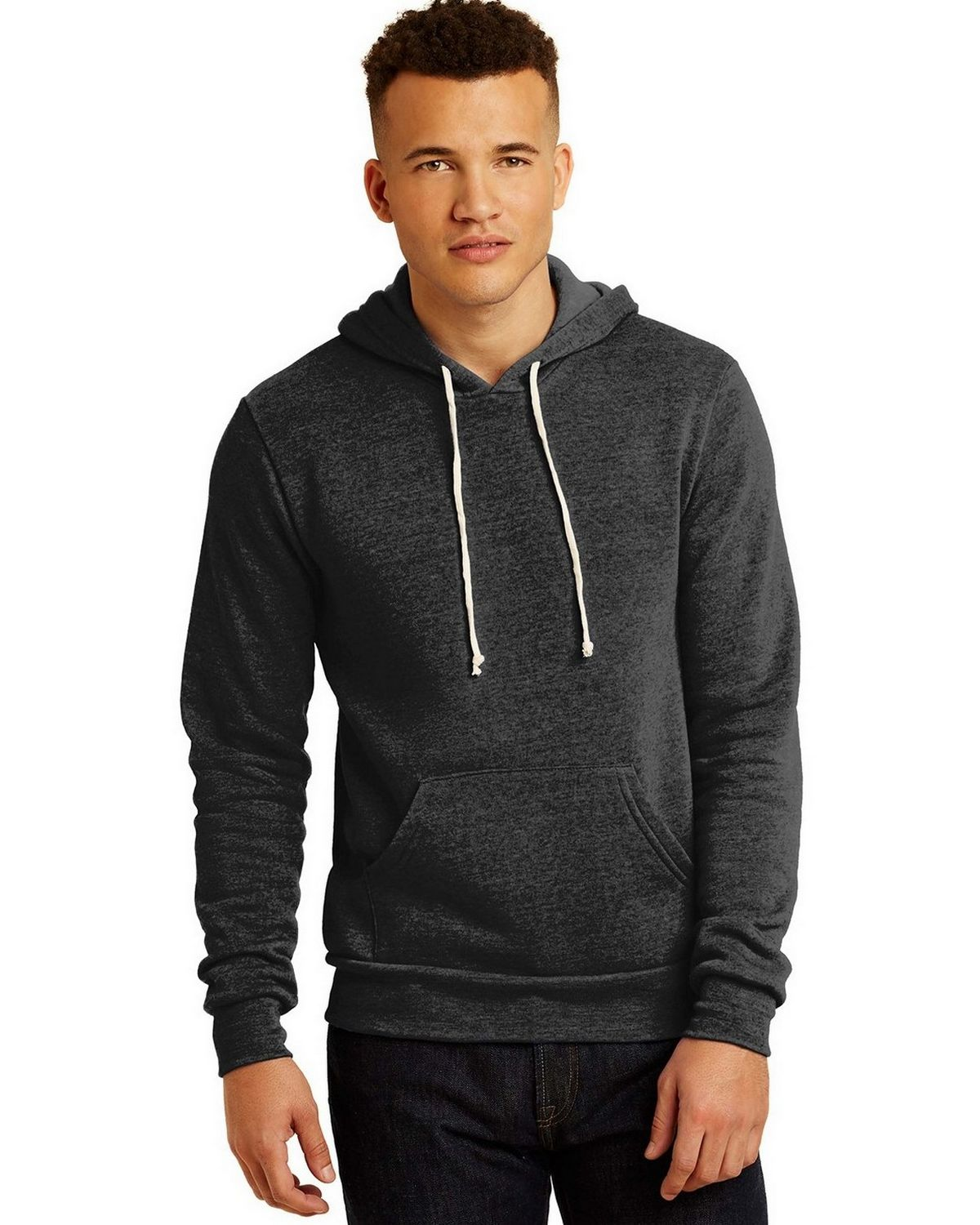 Alternative AA9595 Fleece Pullover Hoodie - Eco Black - M AA9595