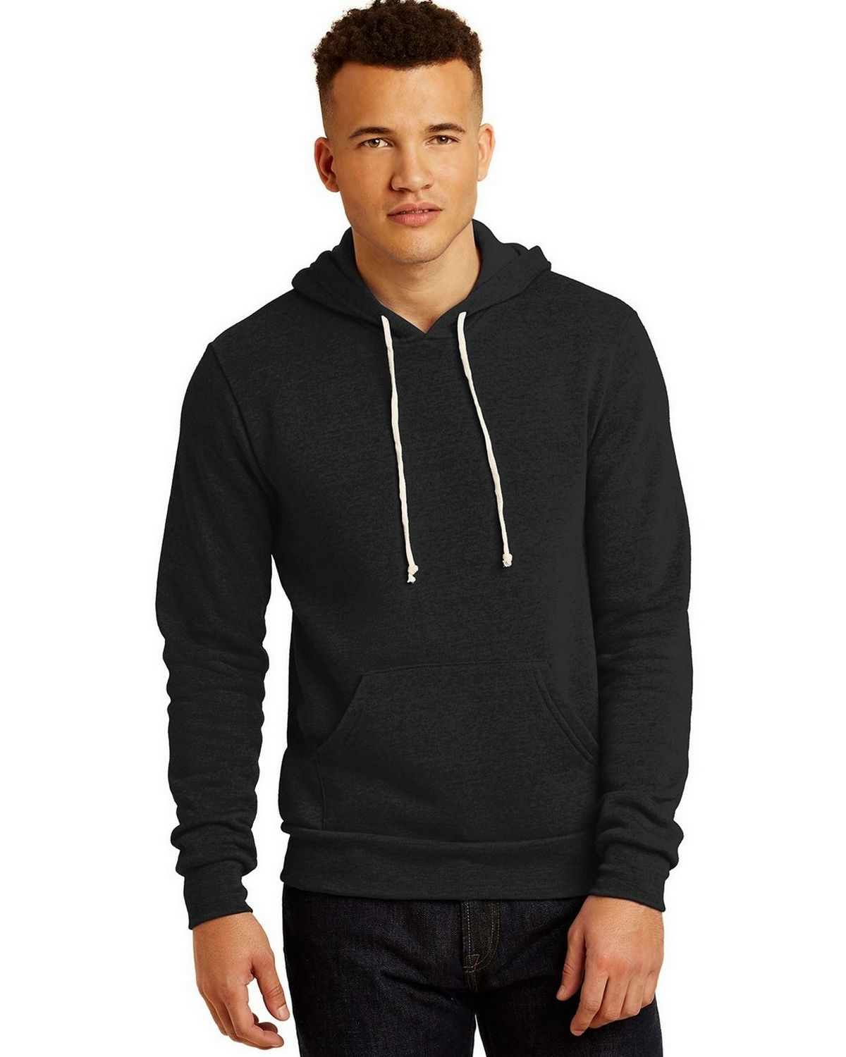 Alternative AA9595 Fleece Pullover Hoodie - Eco True Black - XL AA9595