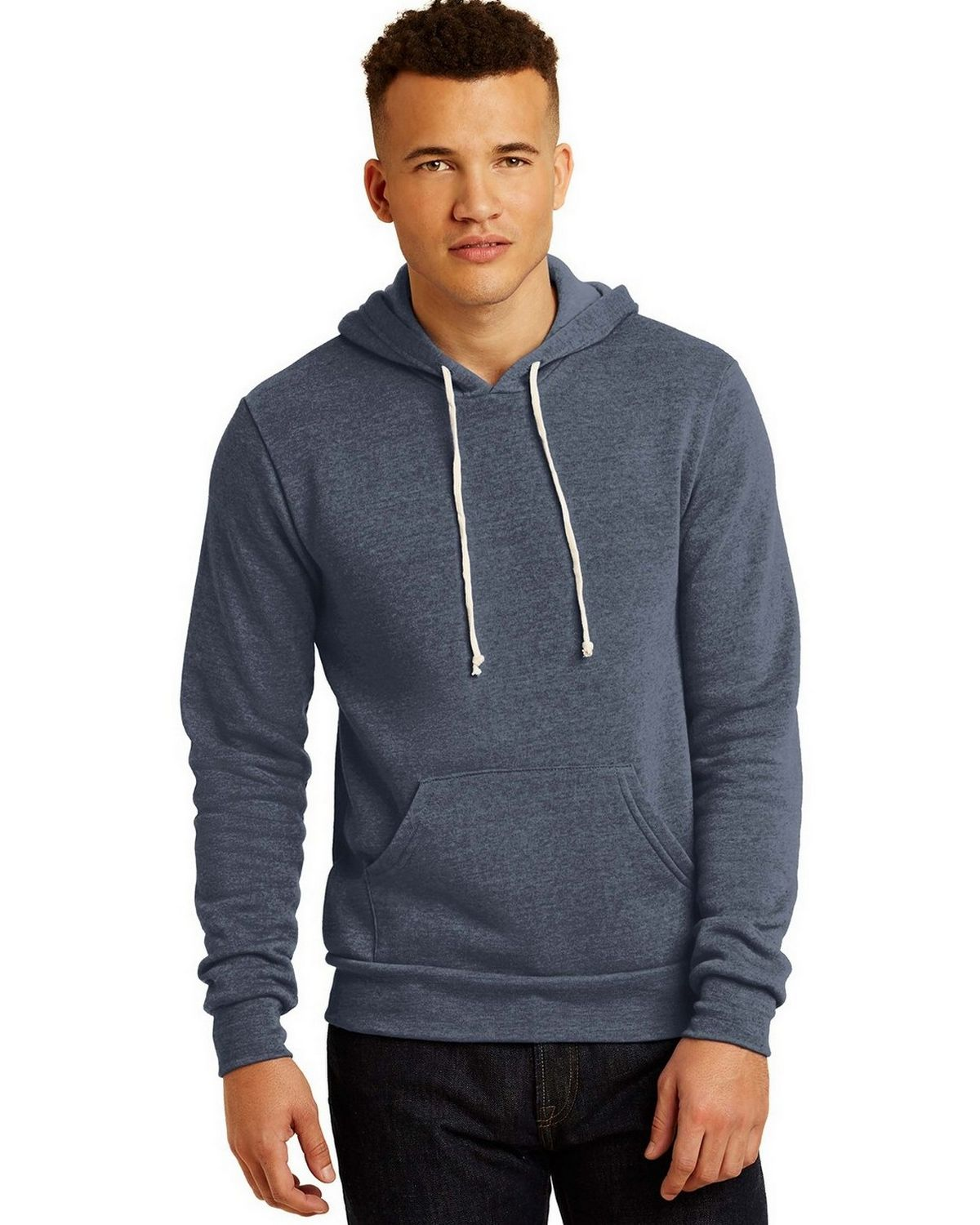 Alternative AA9595 Fleece Pullover Hoodie - Eco True Navy - S AA9595