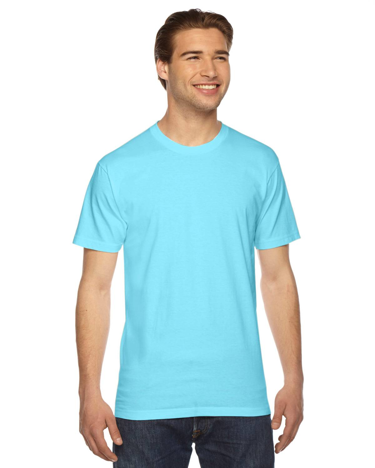 American Apparel 2001W Unisex Fine Jersey T-Shirt - Light Aqua - XL 2001W