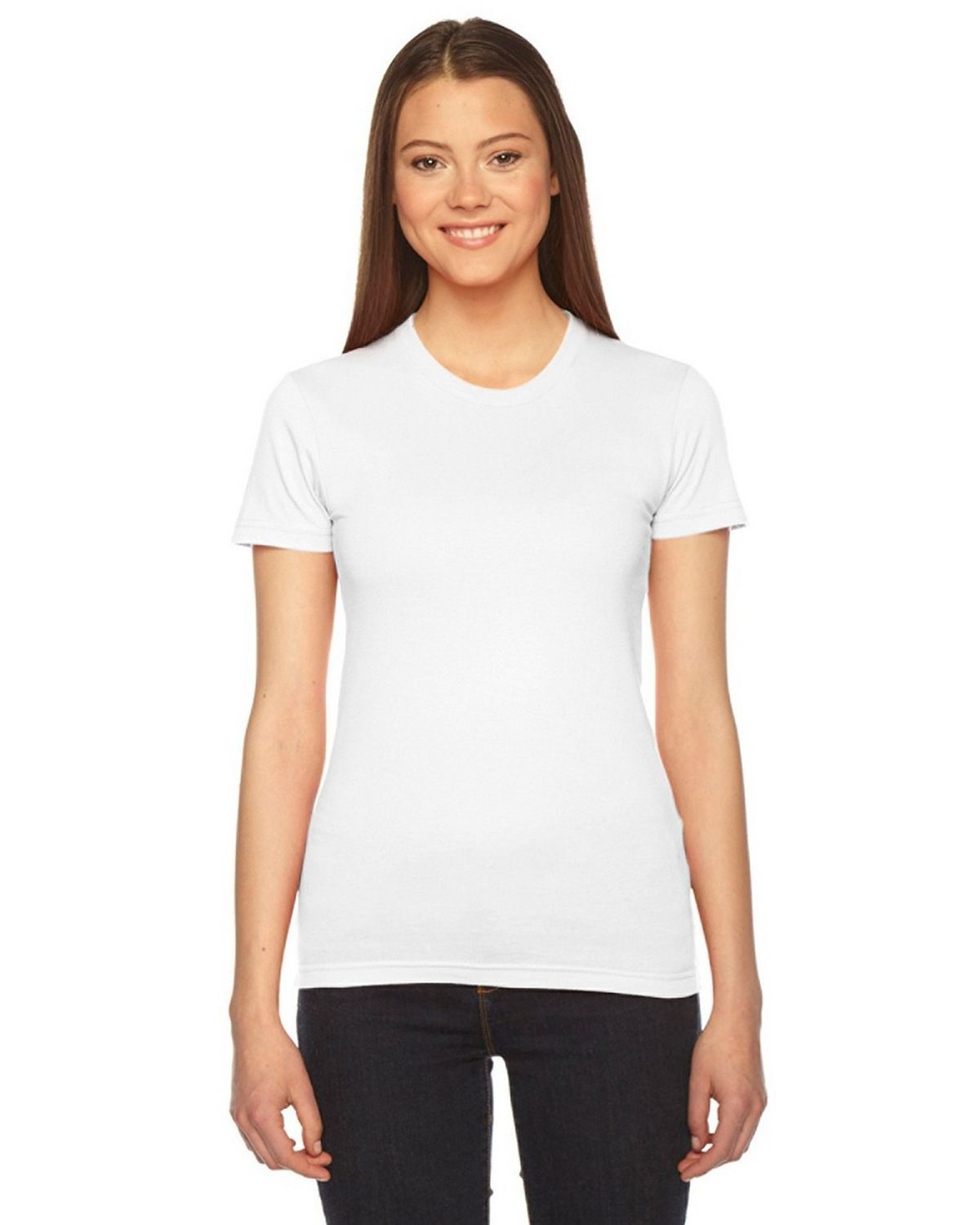 American Apparel 2102 Women's Fine Jersey Short-Sleeve T-Shirt