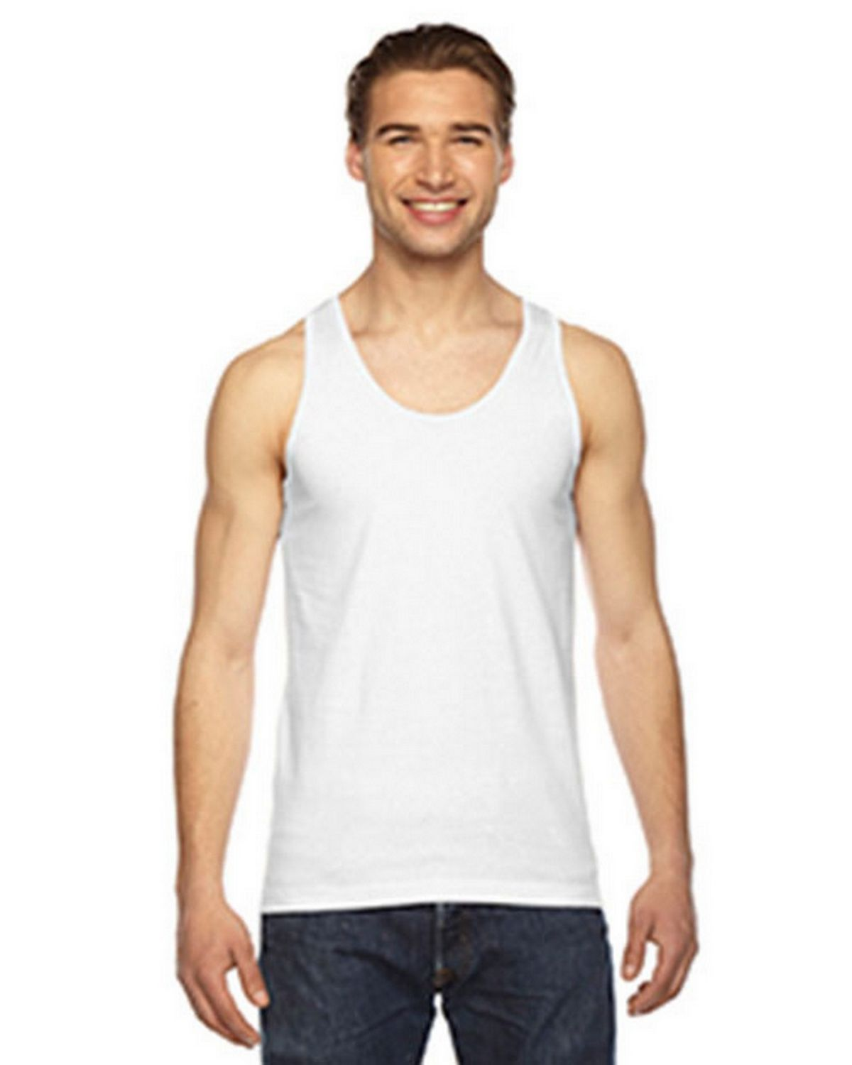 6376a50398 Buy Logo Embroidered American Apparel 2408W Unisex Fine Jersey Tank Top