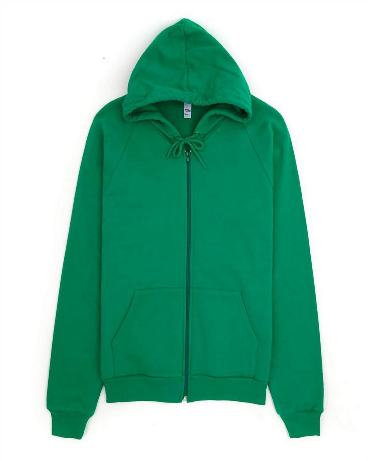 American Apparel 5497 Unisex Fleece Zip Hoodie - Kelly Green - L 5497