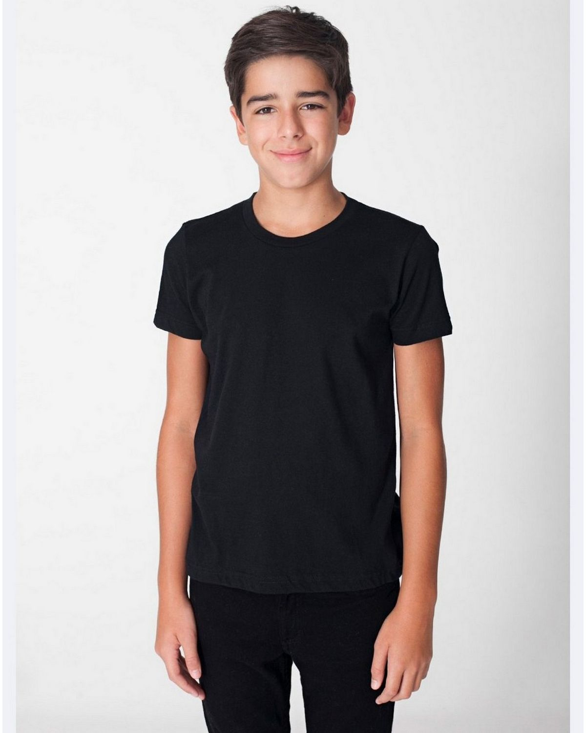 American Apparel BB201 Youth Short Sleeve Crewneck - Navy - 8 BB201
