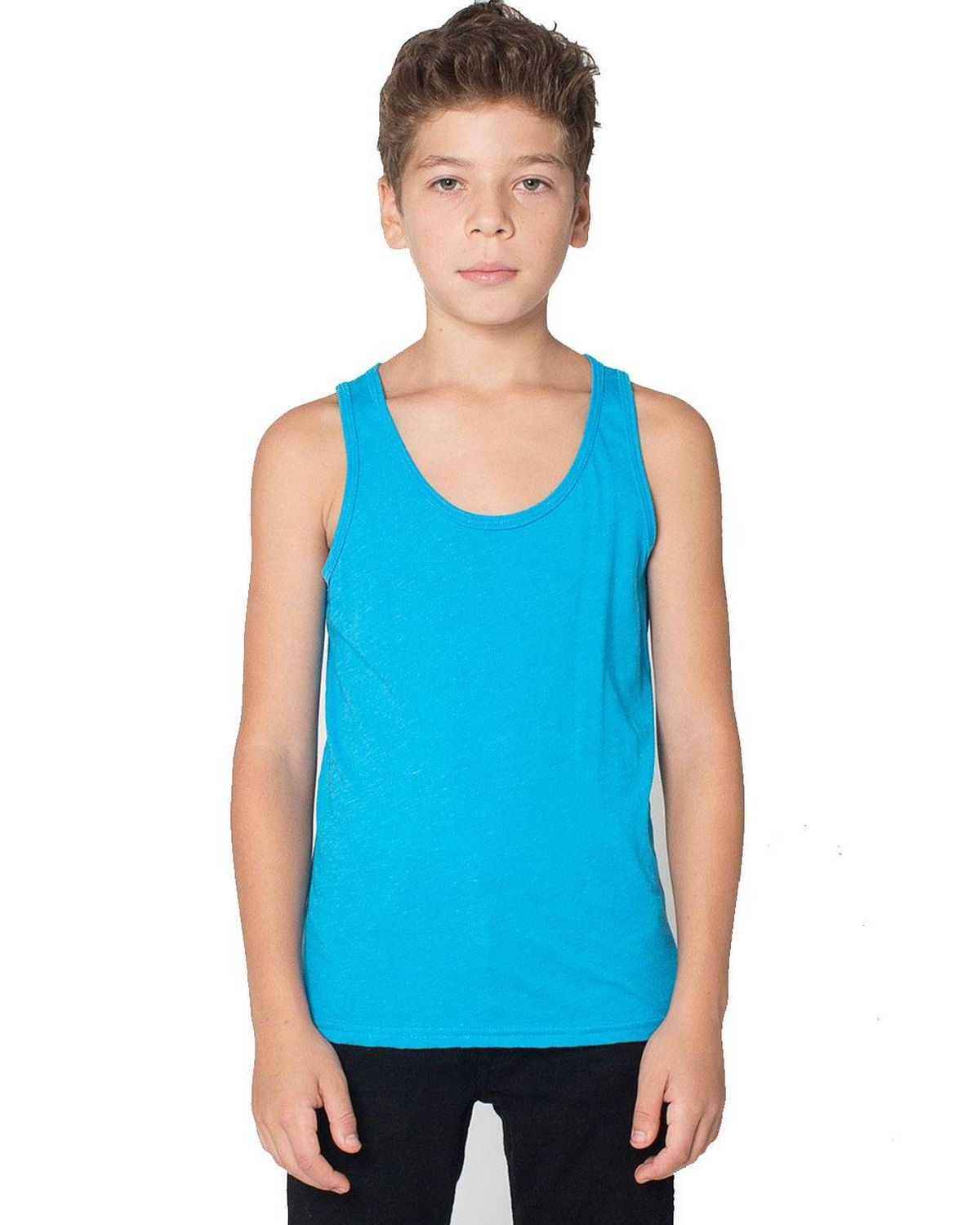 Youth Poly//Cotton Athletic Tank-KELLY
