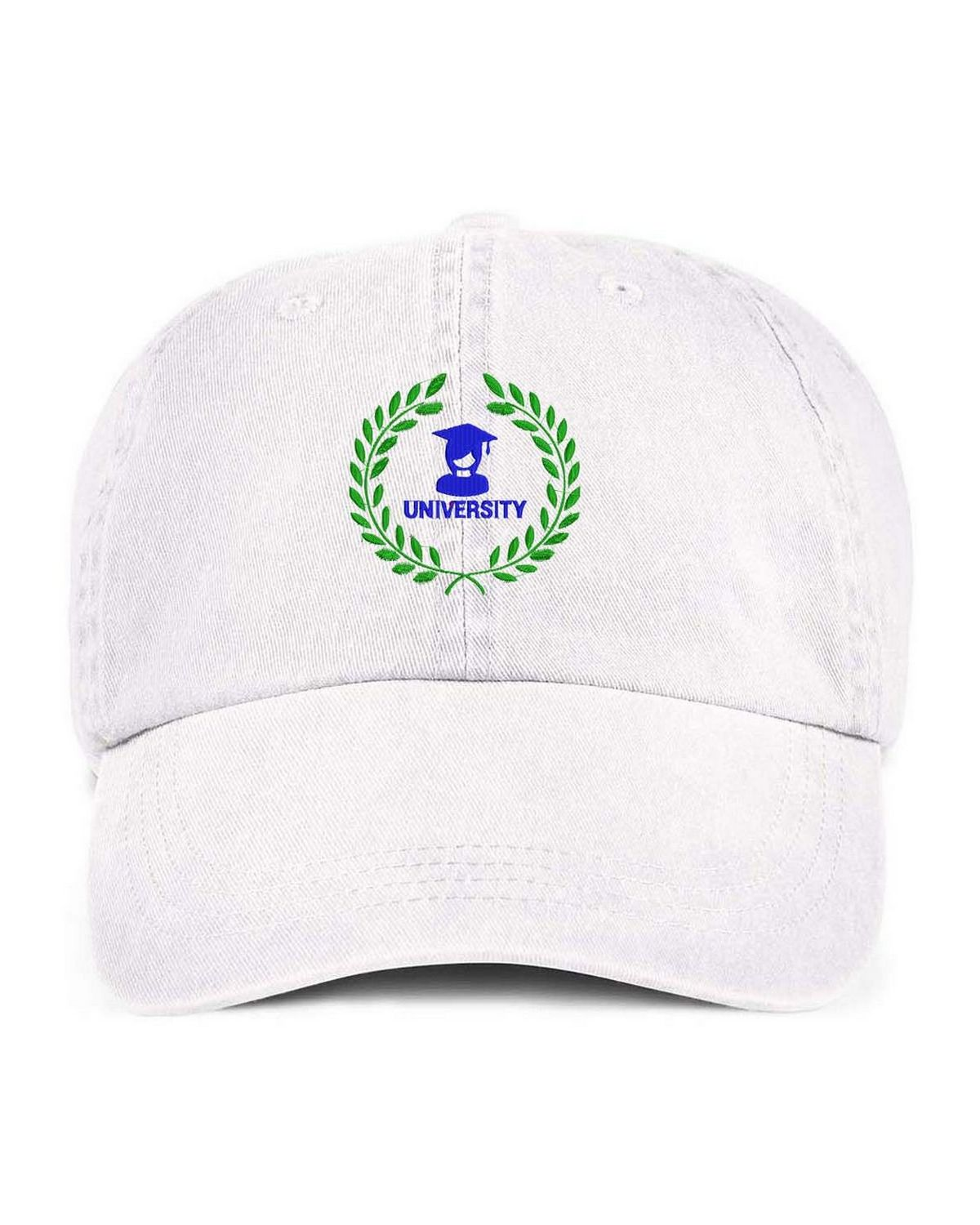 9f2f3d63 Logo Embroidered Anvil 145 6-Panel Pigment Dyed Twill Cap