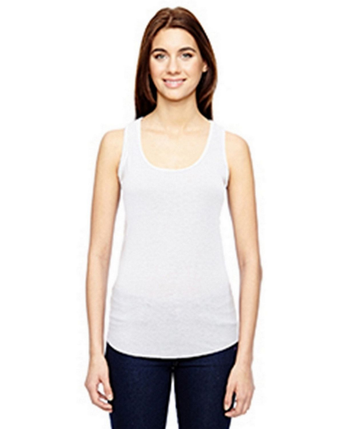Anvil 6751L Ladies Triblend Tank - White - S 6751L