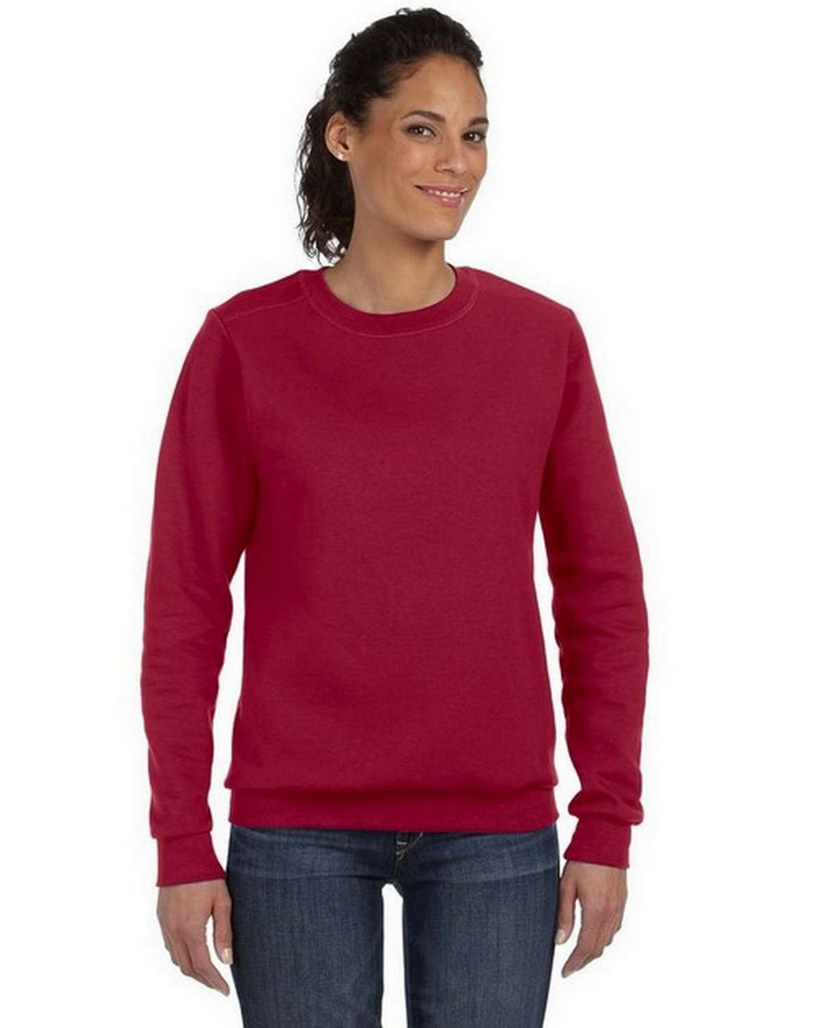 Anvil 71000L Combed Ringspun Fashion Fleece Crew Neck Sweatshirt - Independence Red - M 71000L