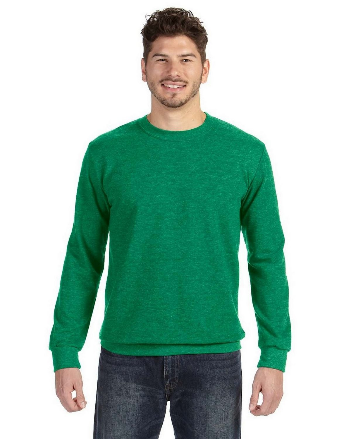 Anvil 72000 Men's Ringspun French Terry Crewneck Sweatshirt