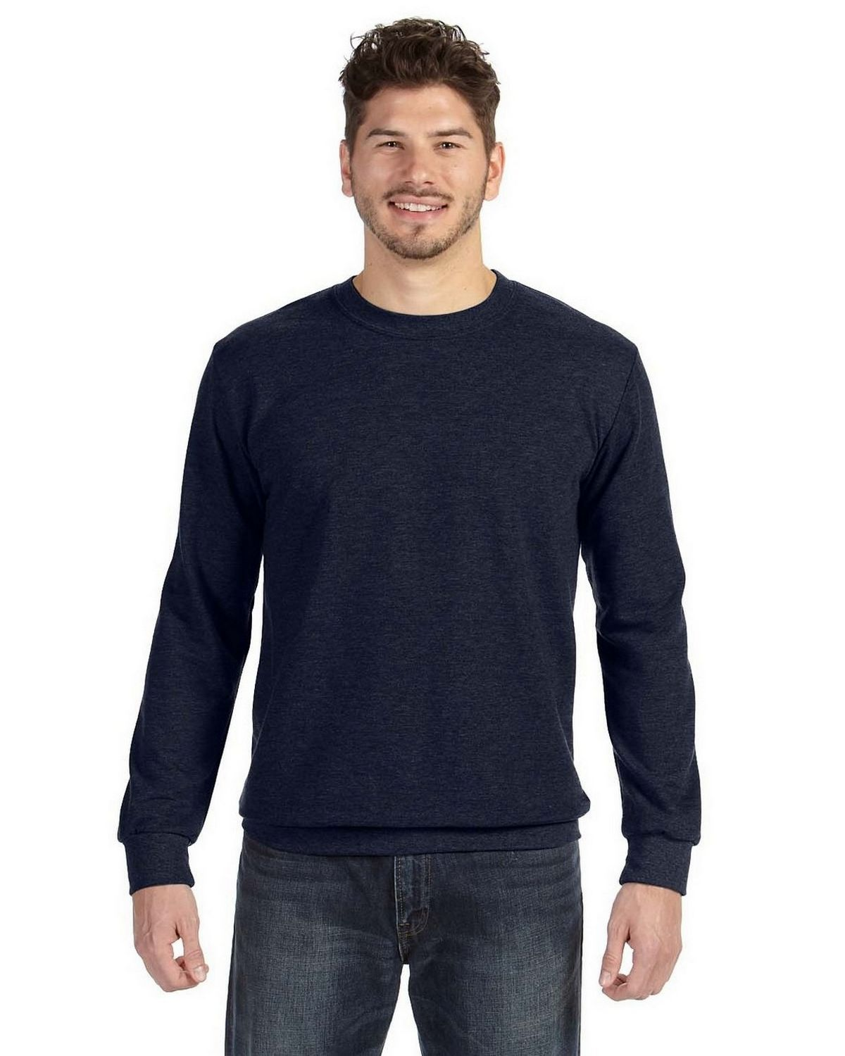 Anvil 72000 Ringspun French Terry Crewneck Sweatshirt - Navy - M 72000