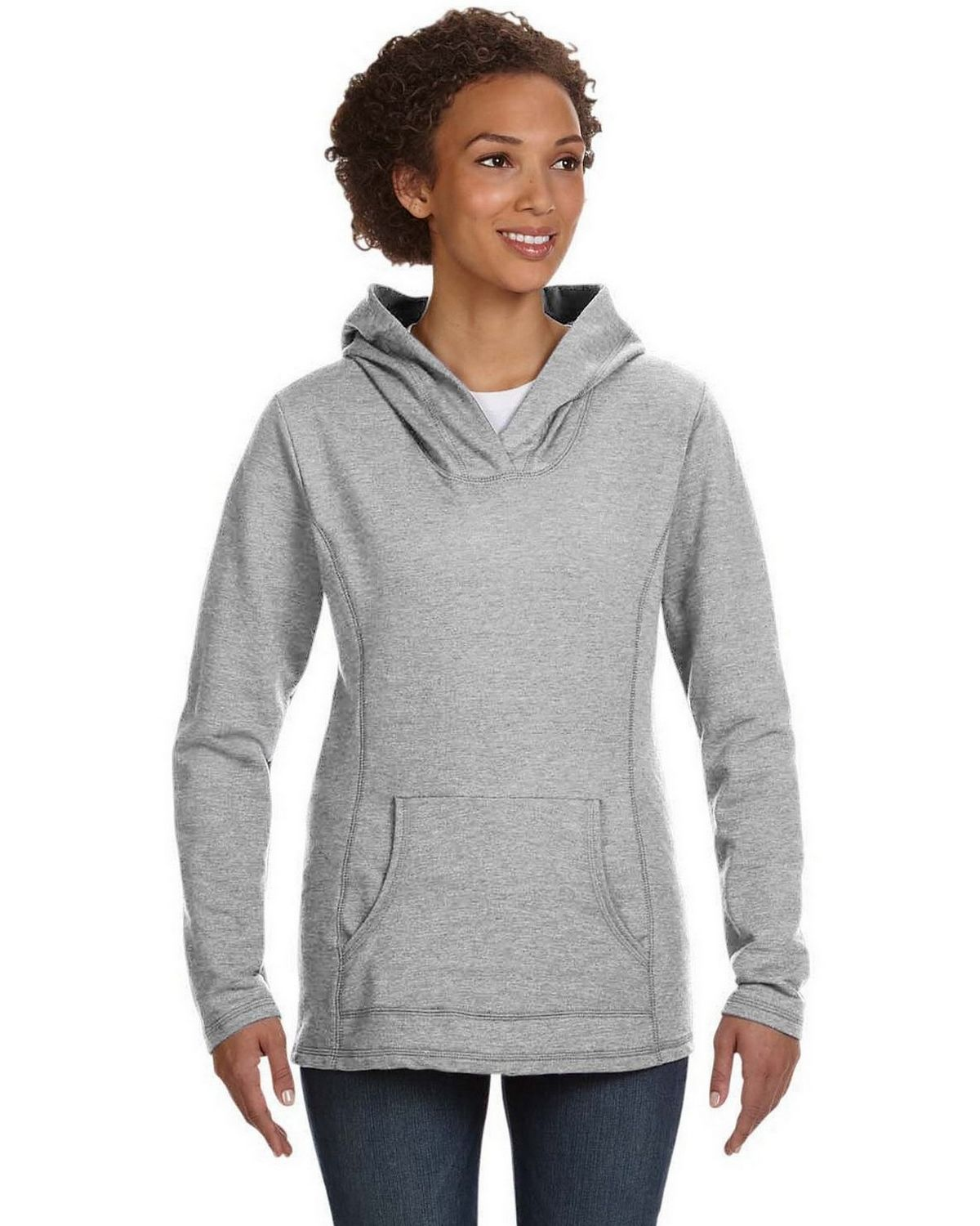 Anvil 72500L Women's Ringspun French Terry Cross-Neck Hooded Sweatshirt