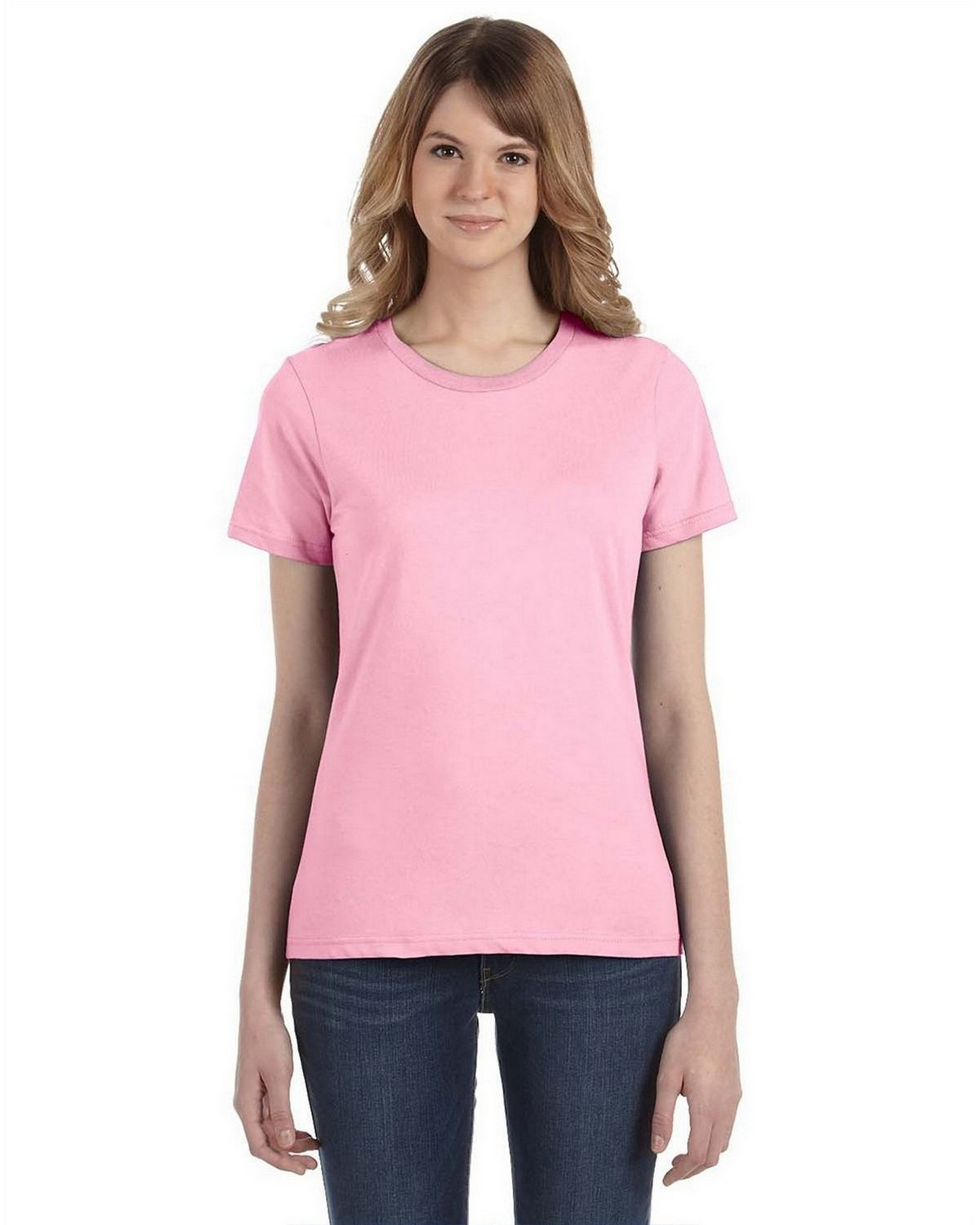 Ringspun T Shirt >> Buy Anvil 880 Ladies Ringspun Cotton Fashion Fit T Shirt