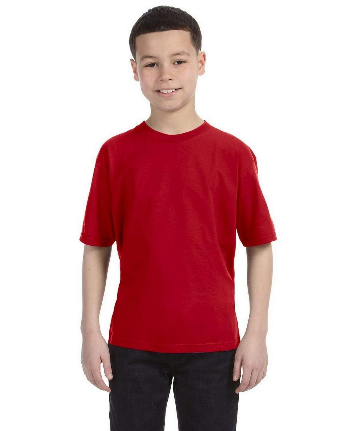 Anvil 990B Ringspun Cotton Fashion Fit T-Shirt - Red - S 990B