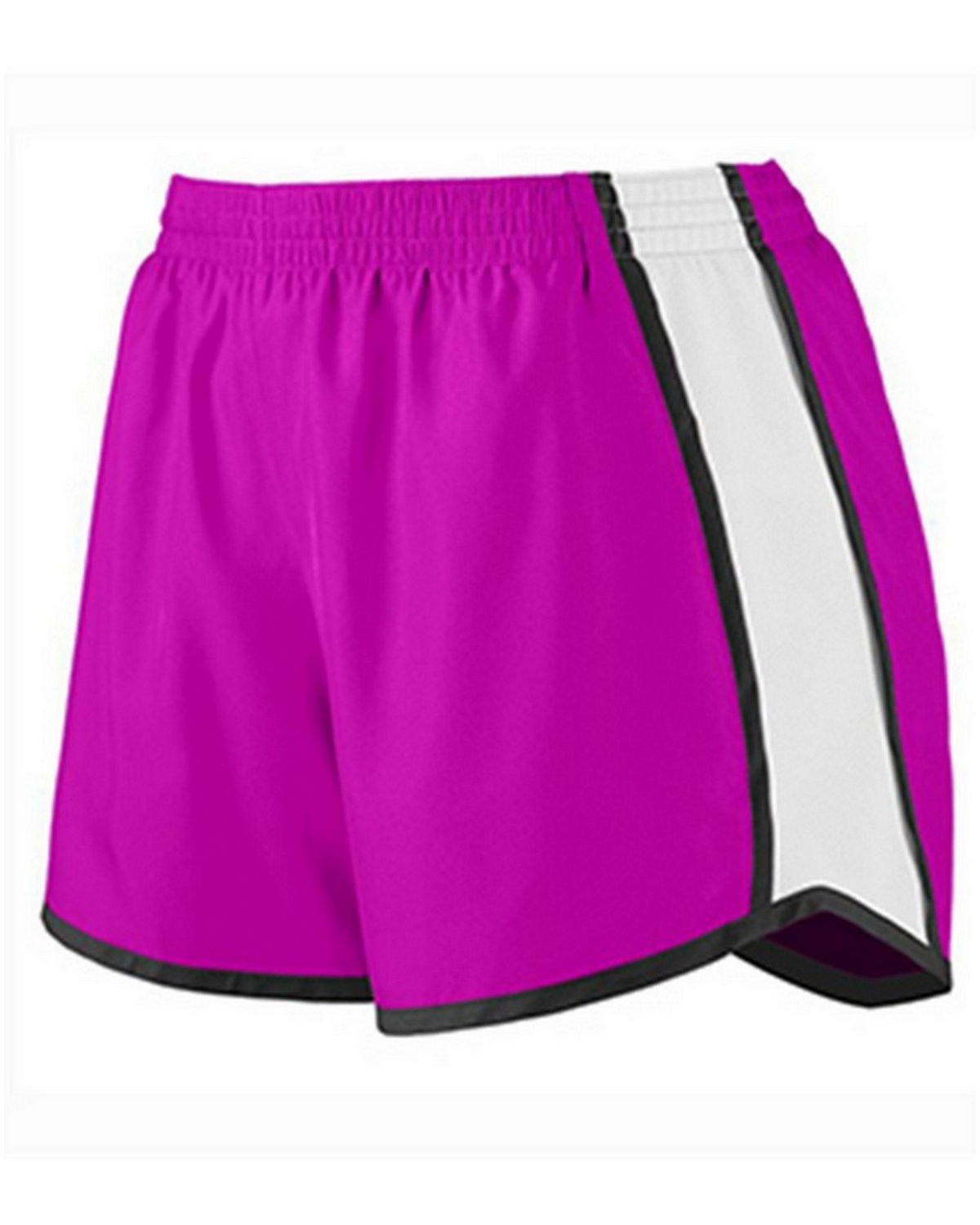Augusta Sportswear 1265A Ladies Junior Fit Short - Power Pink/White/Black - 2X 1265A