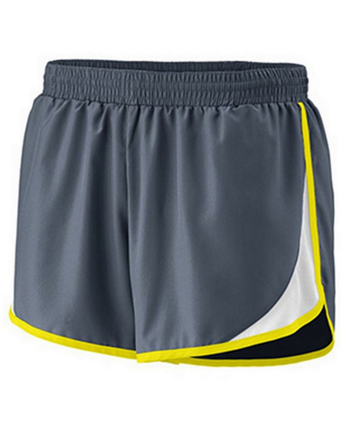 Augusta Sportswear 1267A Ladies Junior Short - Graphite/ White/ Power Yellow - XL 1267A