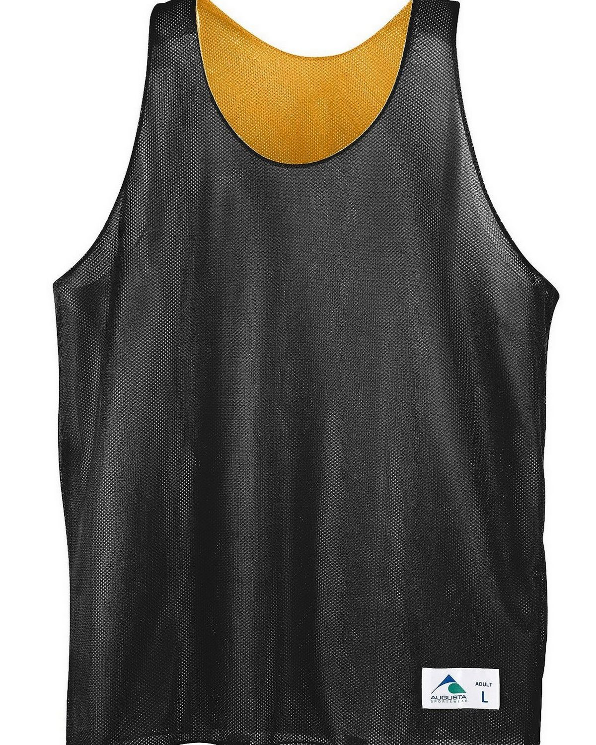 Youth Reversible Mini Mesh League Tank-BLACK WHITE