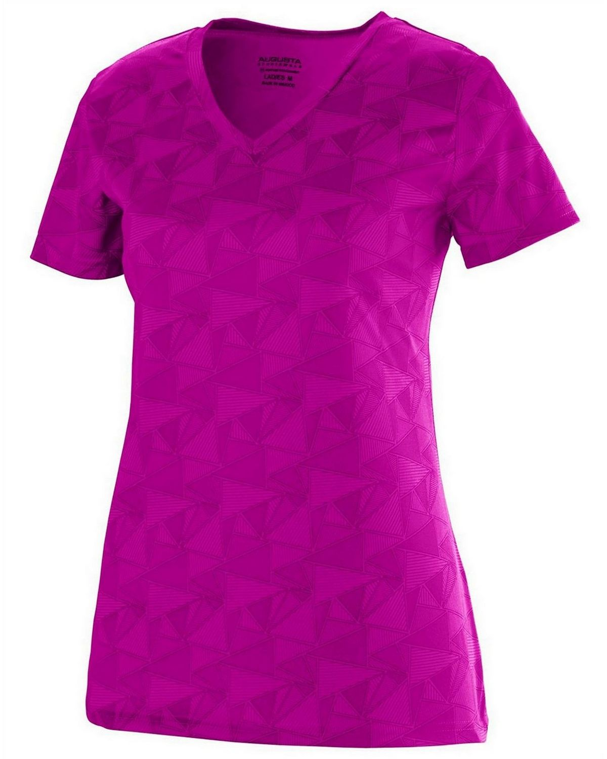 Augusta Sportswear 1792 Short-Sleeve T-Shirt - Power Pink/Black - L 1792