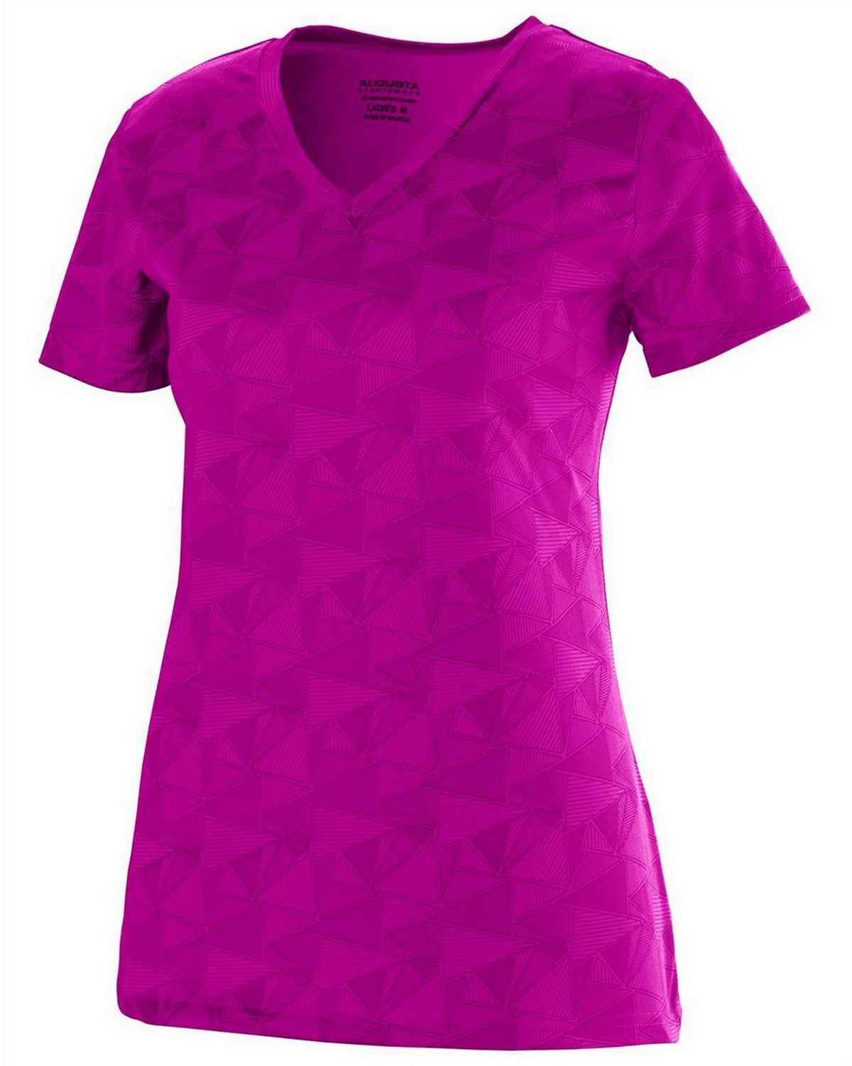 Augusta Sportswear 1793 Short-Sleeve T-Shirt - Power Pink/Black - L 1793