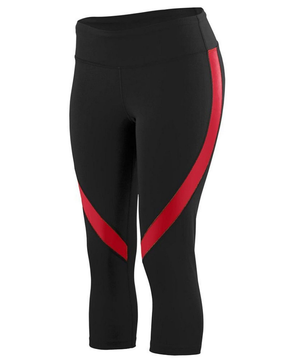 Augusta Sportswear 2405A Ladies Color Block Capri - Black/ Red - L 2405A