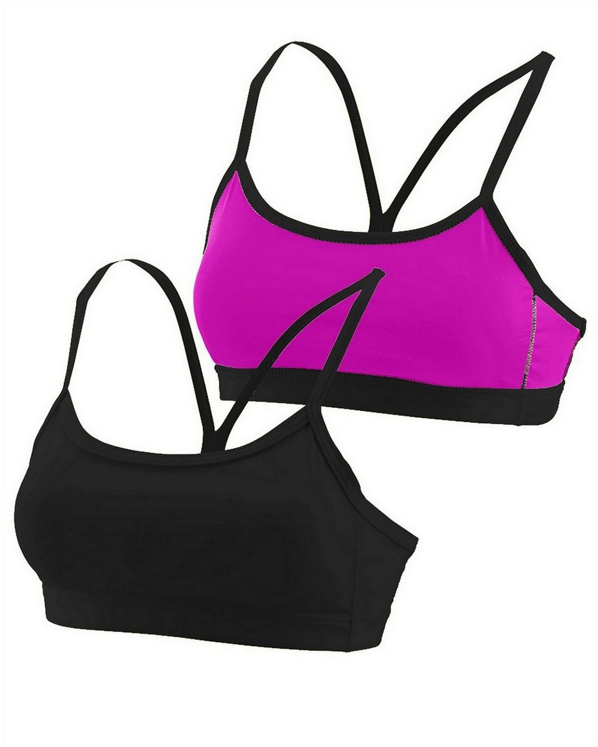 639781796c Size Chart for Augusta Sportswear 2416 Girls Wicking Poly Span Reversible  Bra