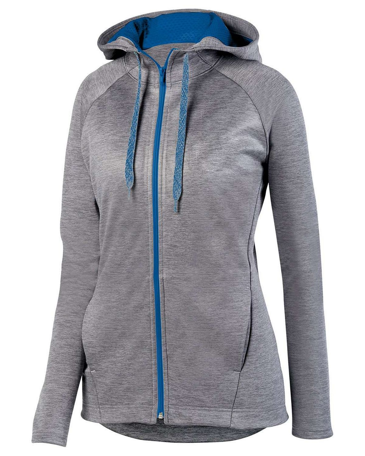 Augusta Sportswear 5558 Ladies Hoodie - Graphite/ Royal - L 5558