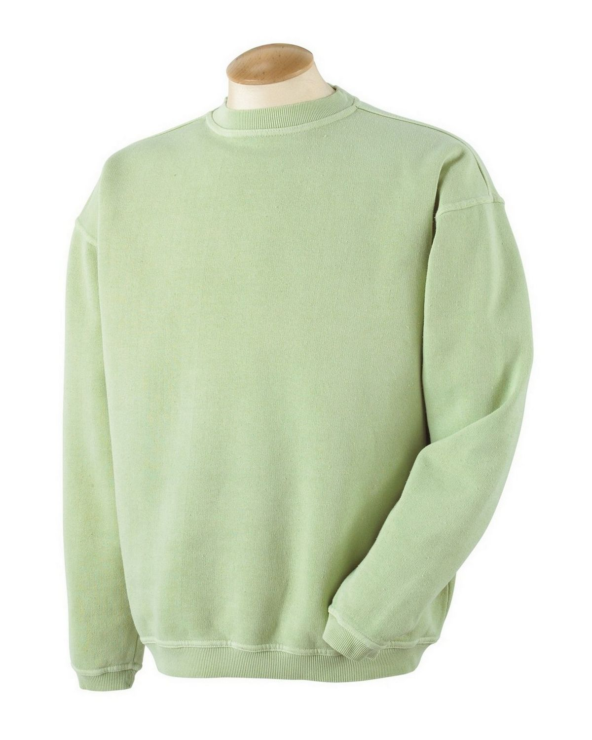 Authentic Pigment 11561 Pigment-Dyed Ringspun Cotton Fleece Crew - Celery - S 11561