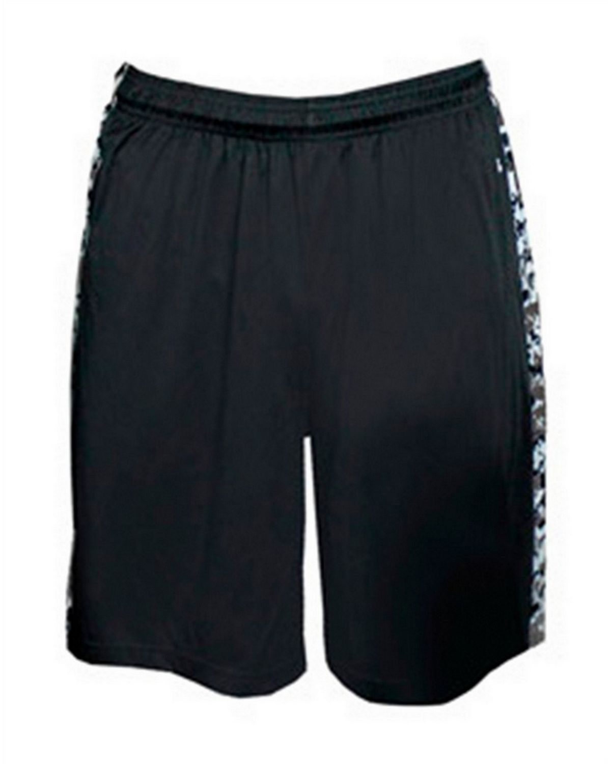 Badger 2249 Youth B-Attack Shorts - Black/White Digital - L 2249