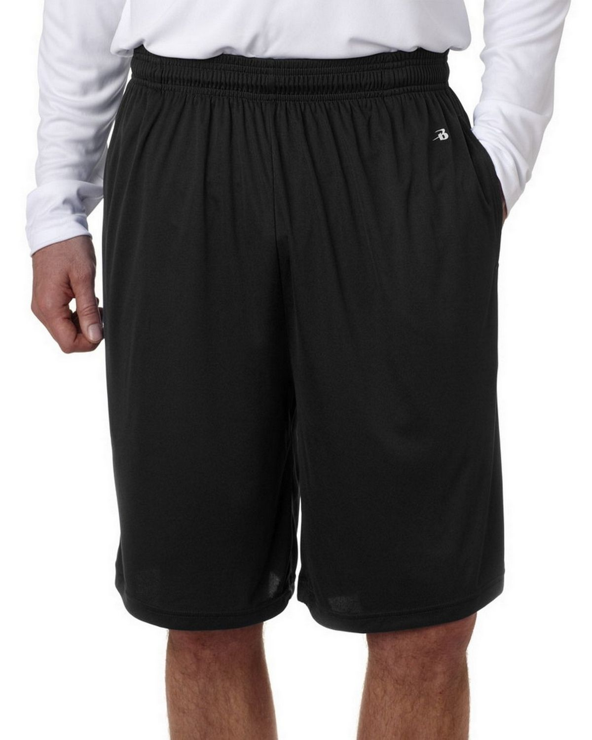 Badger 4119 BD Performance Shorts Pkt - Black - S 4119