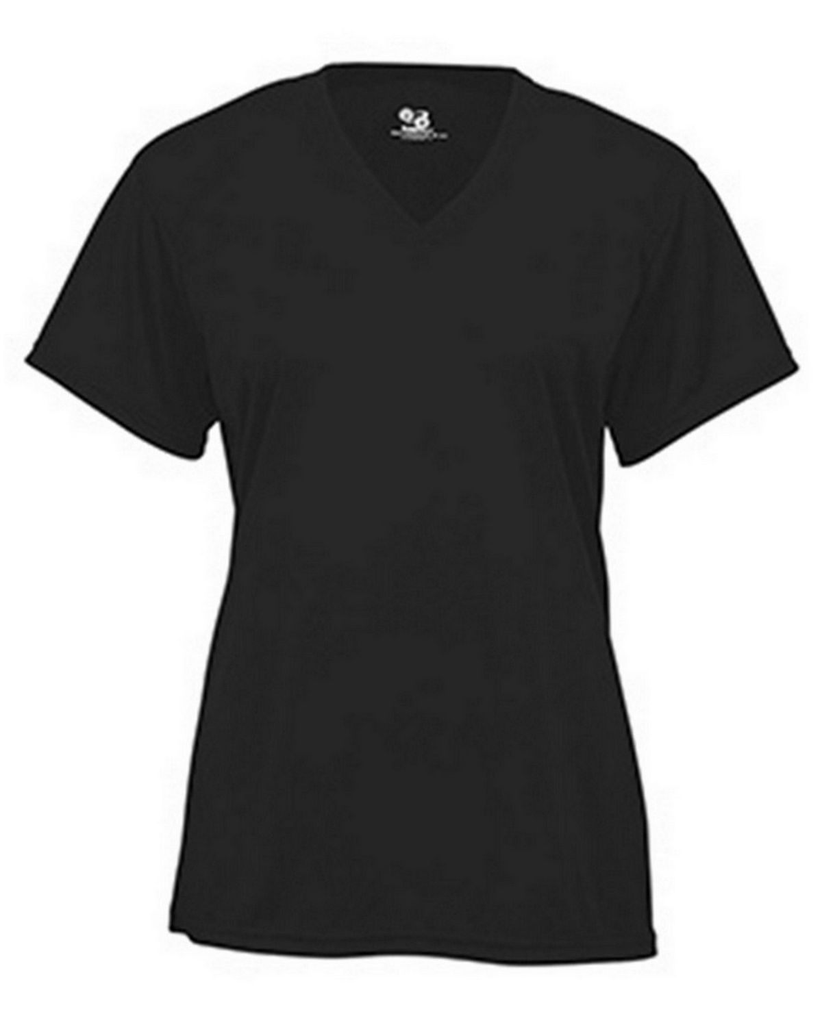 Badger BD4162 Ladies Short Sleeve Tee - Black - 2X BD4162