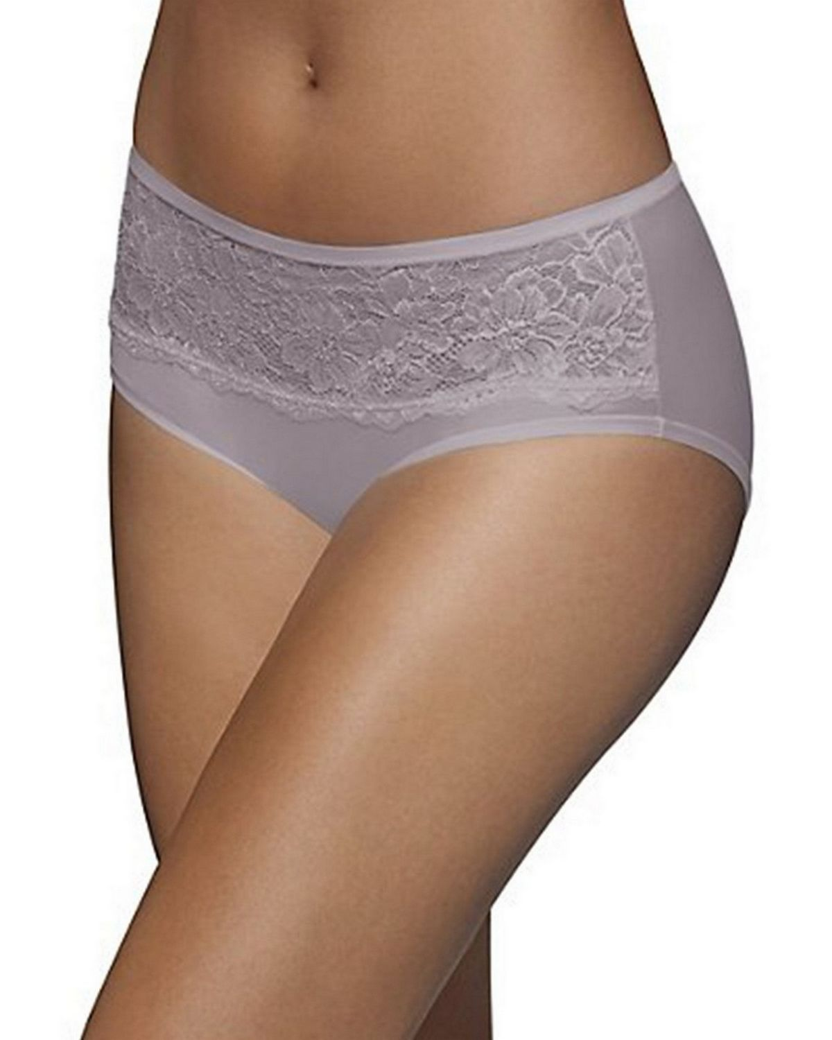 Bali 2783 One Smooth U Comfort Indulgence Satin with Lace Hipster - Warm Steel - 6 2783