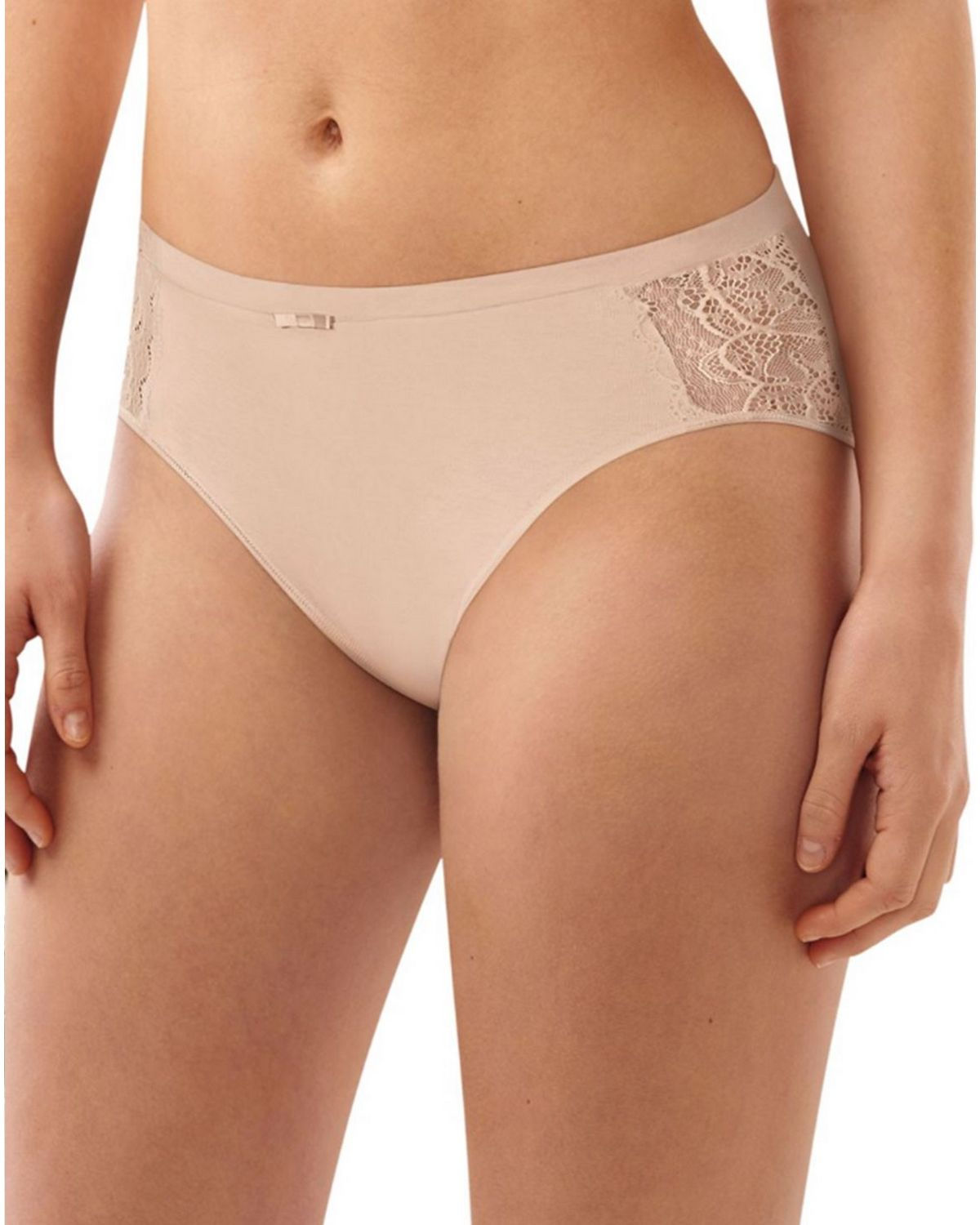 Bali DFCD62 Cotton Hi-Cut Brief - Champagne Shimmer - 8 DFCD62