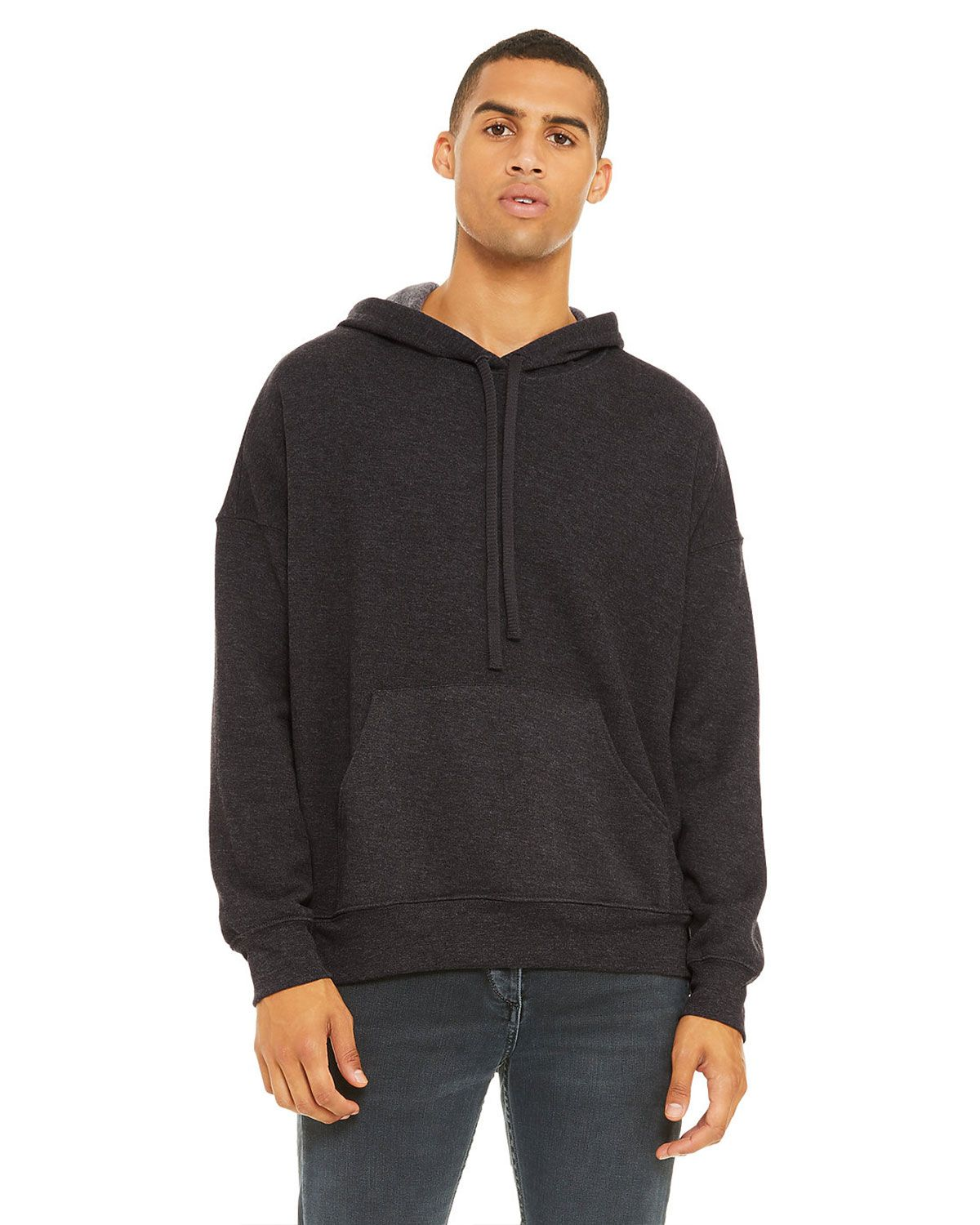 Bella + Canvas 3729 Unisex Pullover Hoodie - Dark Gry Heather - L 3729