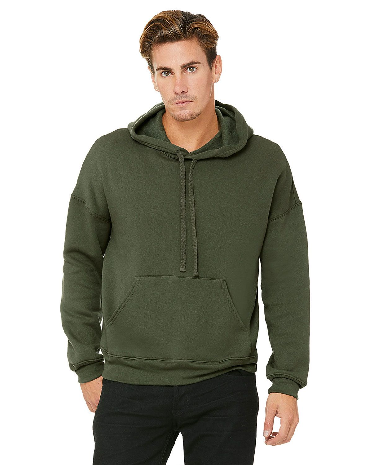 Bella + Canvas 3729 Unisex Pullover Hoodie - Military Green - XL 3729