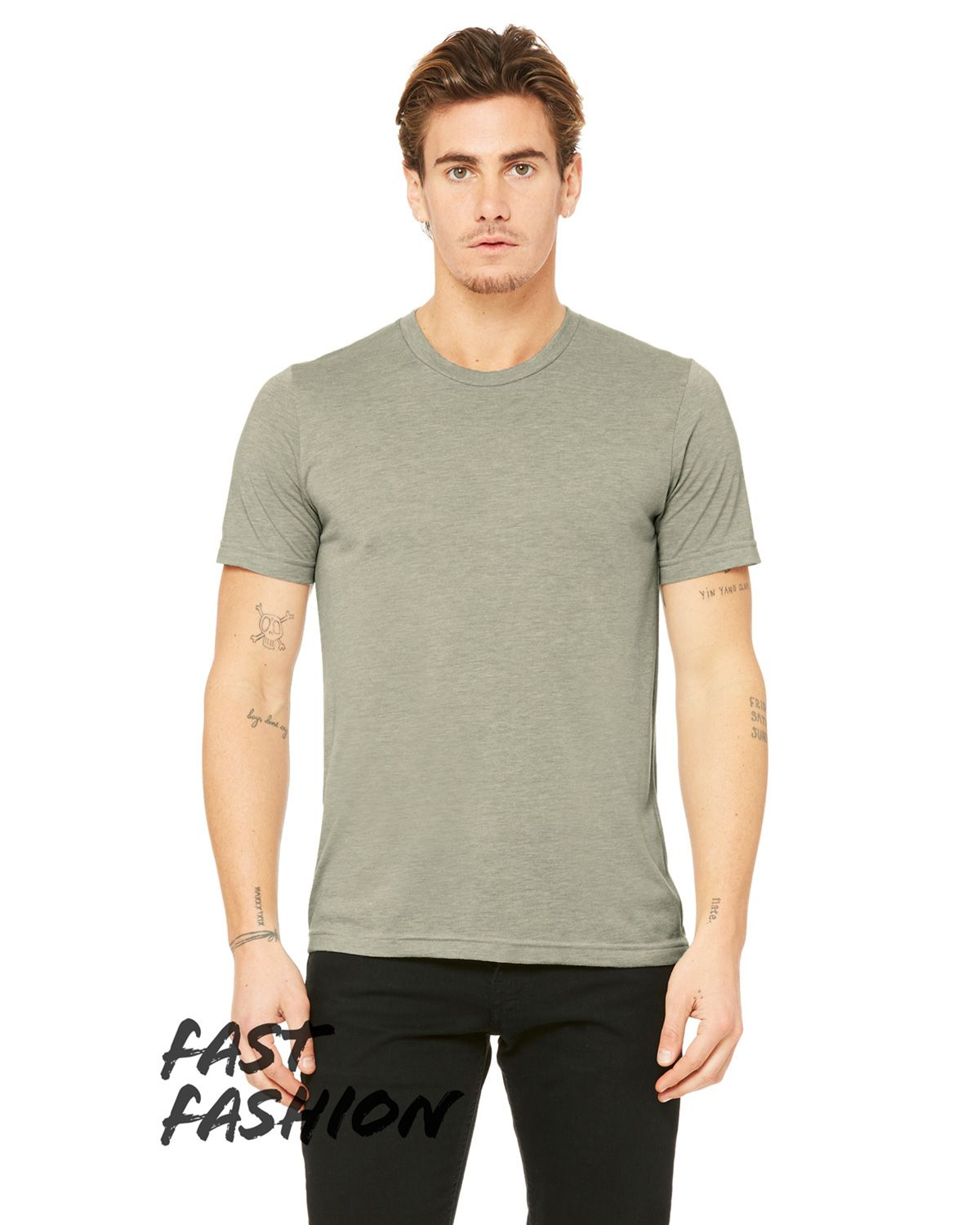 Bella + Canvas 3880C Fast Fashion Viscose Fashion Unisex T-Shirt - Heather Stone - XS #fashion