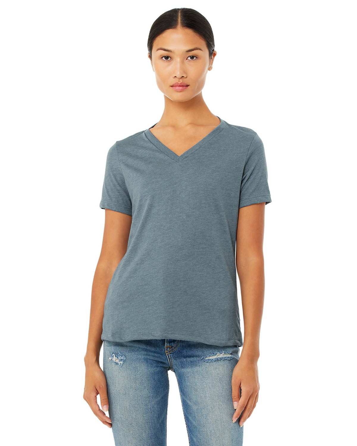 f23df842441561 Buy Bella + Canvas 6405 Ladies Missy's Relaxed Jersey Short-Sleeve V ...