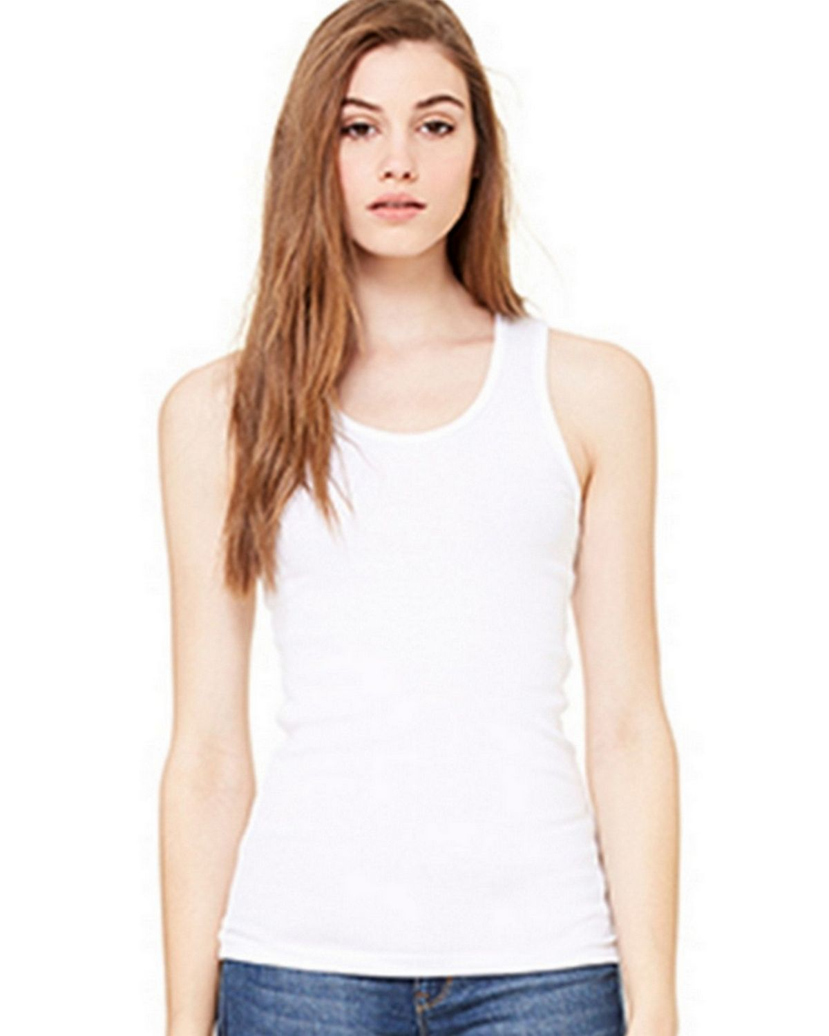 Bella + Canvas B1080 Womens Baby Rib Tank - White - 2X B1080