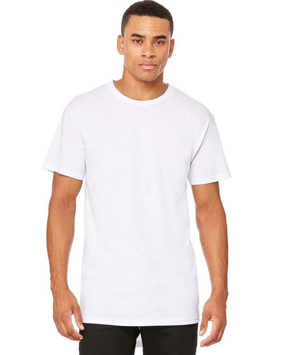 Bella + Canvas C3006 Mens Long Body Tee - White - 2X C3006