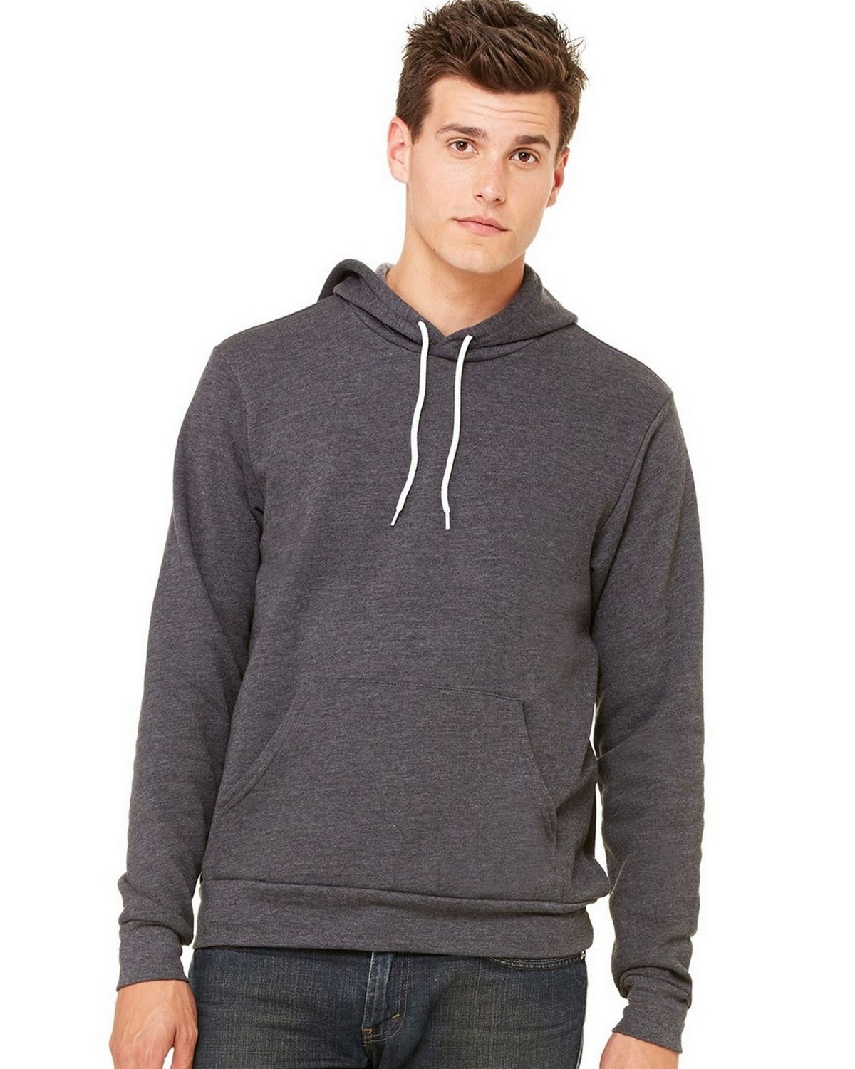 Bella + Canvas C3719 Unisex Pullover Hoodie - Dark Grey Heather - 2X C3719