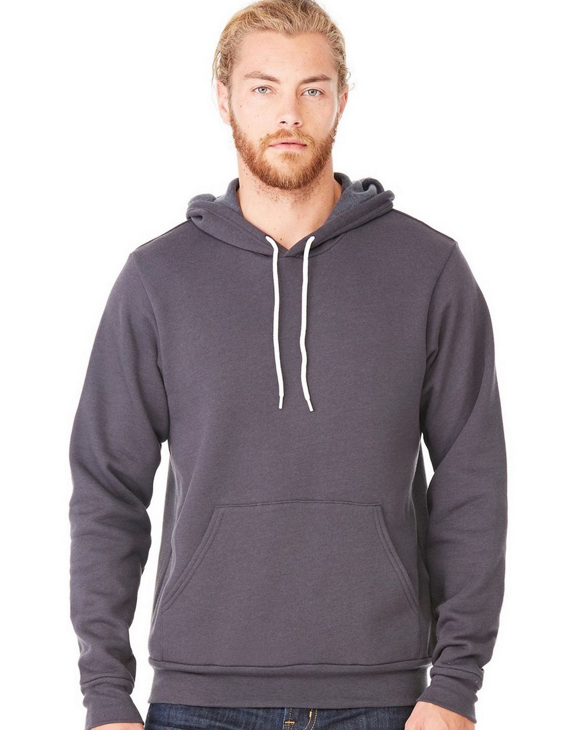 Bella + Canvas C3719 Unisex Pullover Hoodie - Dark Grey Marble Fleece - 2X C3719